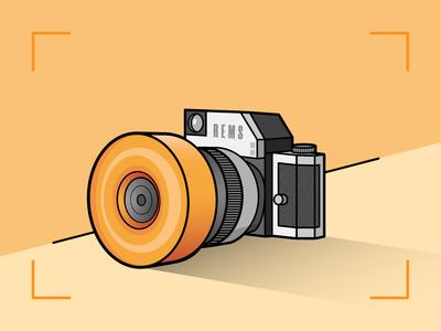 Skate Wheel & Camera