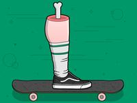 One legged Skater