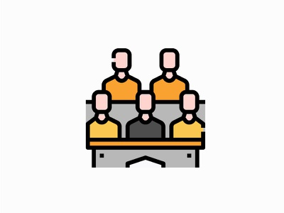 Lecture  room university vector illustration filled icon workshop training people class lecture room