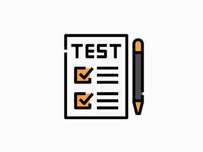 Test education vector illustration icon filled document file list checklist exam test