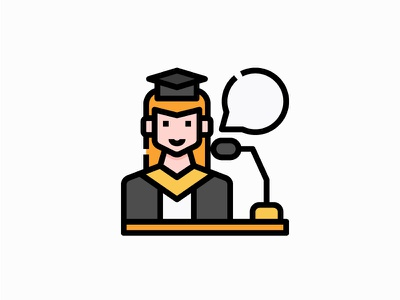 Student vector illustration filled icon profiles avatar user student graduation podium