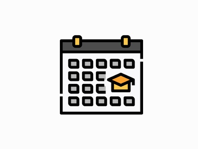 Administration vector illustration filled icon education administration date student graduation calendar