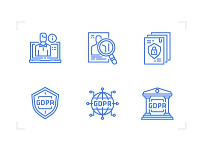 GDPR compliance icons icons personal policy data compliance gdpr eu