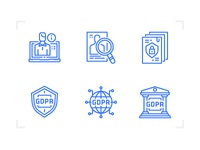 GDPR compliance icons