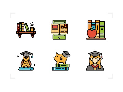 Education Icons icon filled books leaning school education