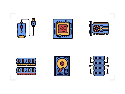 Computer icons electronics tools parts technology computer icon filled