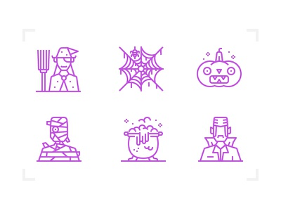 Halloween icon halloween design outline line icon