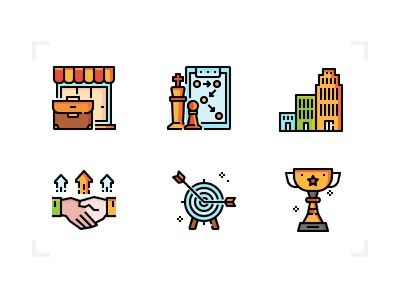 Startup icons investment business new startup design icon filled