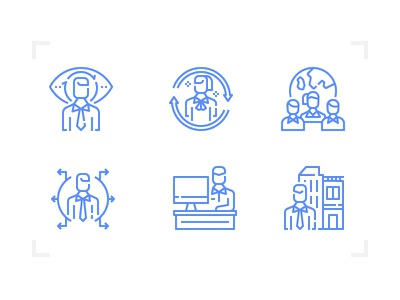 Recruitment Icon business interview jobs recruitment design outline line icon