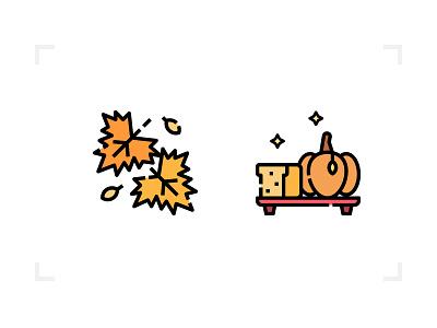 Autumn & Thanksgiving logo design icon thanksgiving autumn