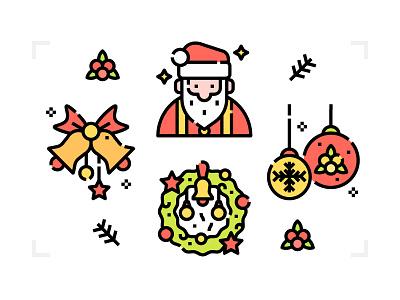 Merry Christmas design invitation icon xmas merry christmas