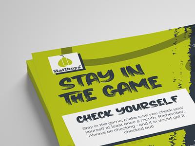 BallBoys Charity Leaflet health esport esports charitydesign charity flyer design flyer designs leaflet design leaflet vector design
