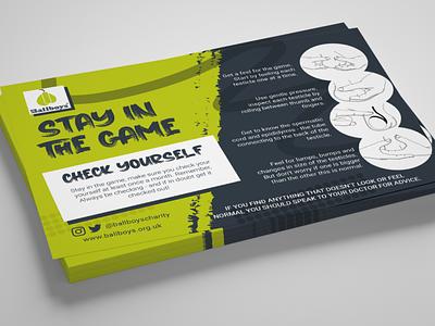 BallBoys Charity Design health esport charity leaflet design flyer design flyer designs leaflet vector design