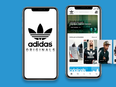 Ecommerce Shop Front UI Breakout Concept - Adidas