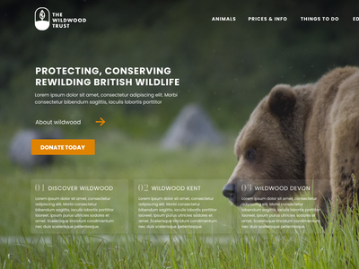 The Wildwood Trust Desktop Concept redesign revamp uxdesign websitedesign designs logodesign wildlife charity mobile ui website web ux logo branding ui design
