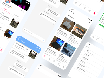 SYSO - Sell Your Stuff Online app mockup ux uidesign ui case study uiux building olx message search branding buy sell buy