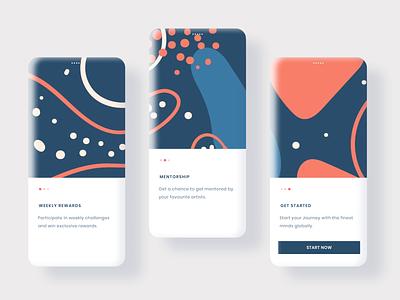 Onboarding UI user interface design user experience userinterface walkthrough onboarding dailyui dailyuichallenge uiux design illustration uidesign mockup app