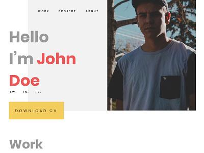 Minimal Portfolio Design resume ux website illustration ui dailyuichallenge dailyui uiux uidesign minimalist freebie design portfolio