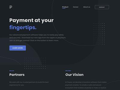 Daily UI - #003 payment dark mode dark ui website ui design dailyuichallenge dailyui app uiux uidesign