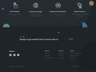 Footer Design ux payment onboarding footer menu footer design mockup design dailyuichallenge dailyui uiux uidesign