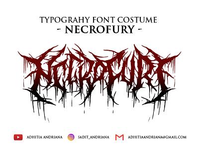 Necrofury gore jangart deathmetal concept illustration costume artwork drawing design