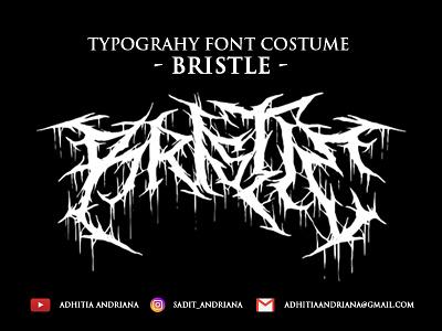 Bristle typeface drawings jangart logo death metal typography font concept branding design horror gore fonts costume illustration font design deathmetal artwork drawing