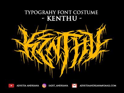 Kenthu band branding design jangart icon vector artwork font horror illustration deathmetal gore typography logo concept costume drawing