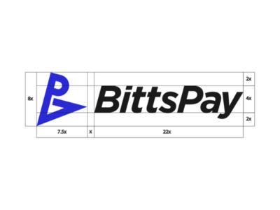 Bittspay logo design construction