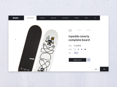 Skate Store Product Page
