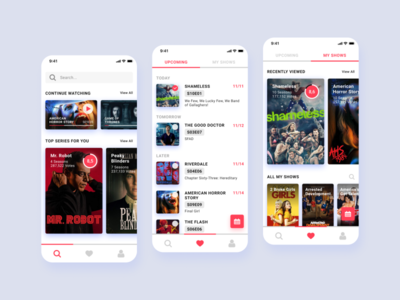 Tv Series Streaming App Concept