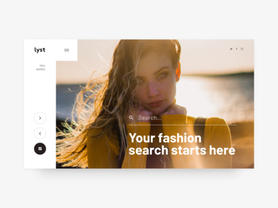 Lyst Fashion Landing Page Concept