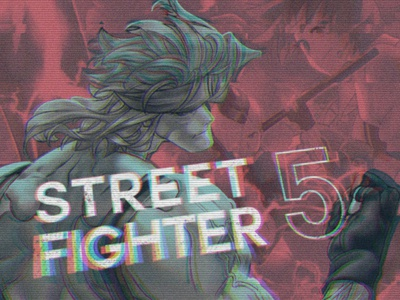 Street Fighter 5 playstation videogame alex street fighter glitch retro design retrowave retro typography design illustration