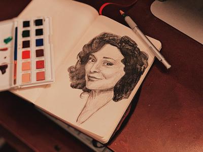 Designing Women portrait illustration portraiture art portraiture portrait graphite sketch drawing