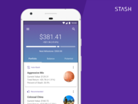 Stash Home Page Concept for Android