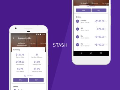 Stash Product Detail Page Concept for Android