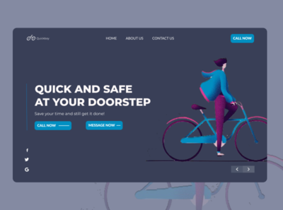 Landing Page for Quick Boy