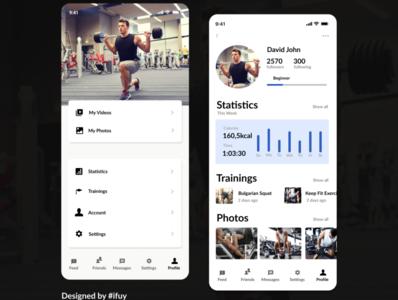 Profile of a fitness progress app