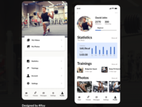 Profile of a fitness progress app