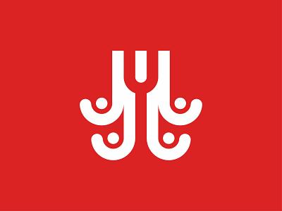 Y + OCTOPUS logos pictorial mark pictogram wordmark symbol design logo marks logogram octopus logo octopus typogaphy design illustration logodesign logo app logoplace identity design branding brand identity brand design logo