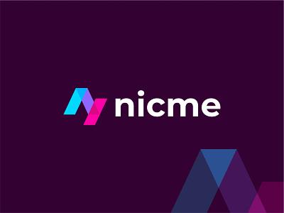 Nicme - Logo Design 3d animation ui motion graphics graphic design design branding identity design logos brand identity brand design logo