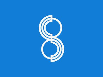 S8 logo design logomarks logotype design app logomark number 8 logos logodesign logo app brand logoplace brand identity identity design brand design illustration logo