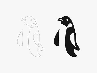 PENGUIN black and white logo mark symbol character design logo designer pictorial mark logo animal logo marks logo mark penguin penguin logo logos vector logo design branding design identity design illustration logo branding brand identity brand design