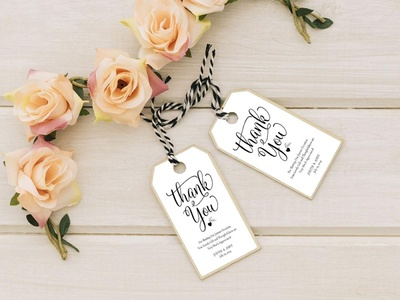 Free Wedding Thank You Label Template