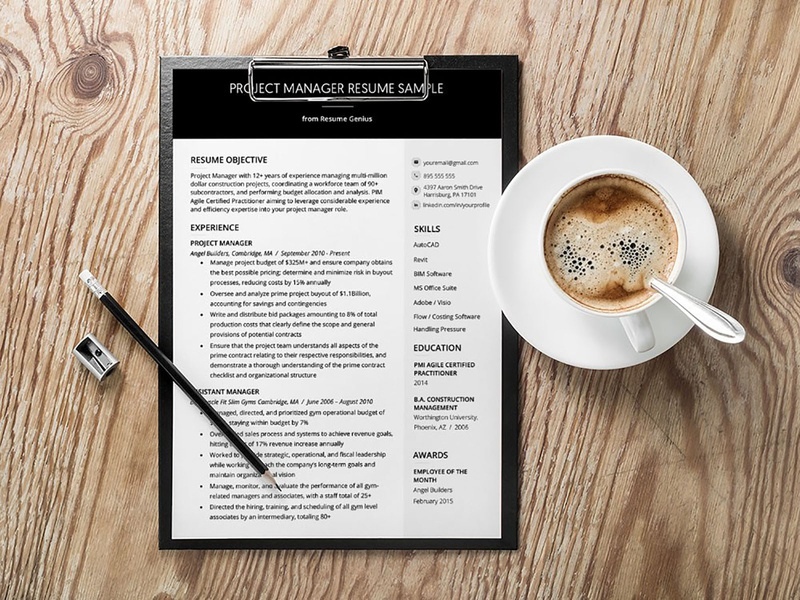 Free Project Manager CV/Resume Template