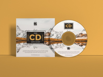 Free CD Mockup With Cover
