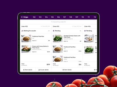Wigle. Kitchen app product app mobile ios tablet motion uxui animation design clean minimal ui ux