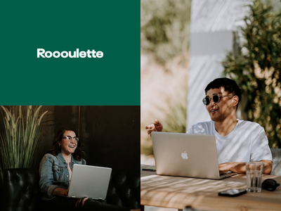 Roooulette logo – Stay home and meet new people website web animation design clean minimal ae motion design motion logodesign logo idenity branding