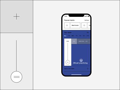 Habitation – The simplest habit app ever interaction muzli brutalism ios app animation ui ux design clean minimal