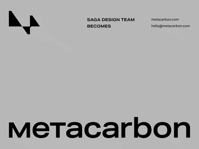 Saga becomes Metacarbon design clean minimal motion typography rebrand rebranding logo branding animation