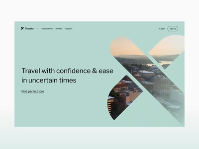 Travelo – Personalized Trips Operator onboarding quiz personalization travel website app web uxui motion animation ui ux design clean minimal